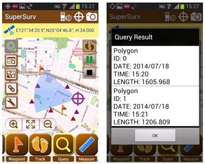 GIS software on mobile device