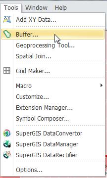 Analysis Tools > Buffering
