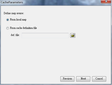Cache Generator > Create New Cache on