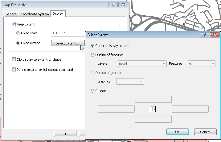 Setting and Managing Layers > Setting Map > Setting Display