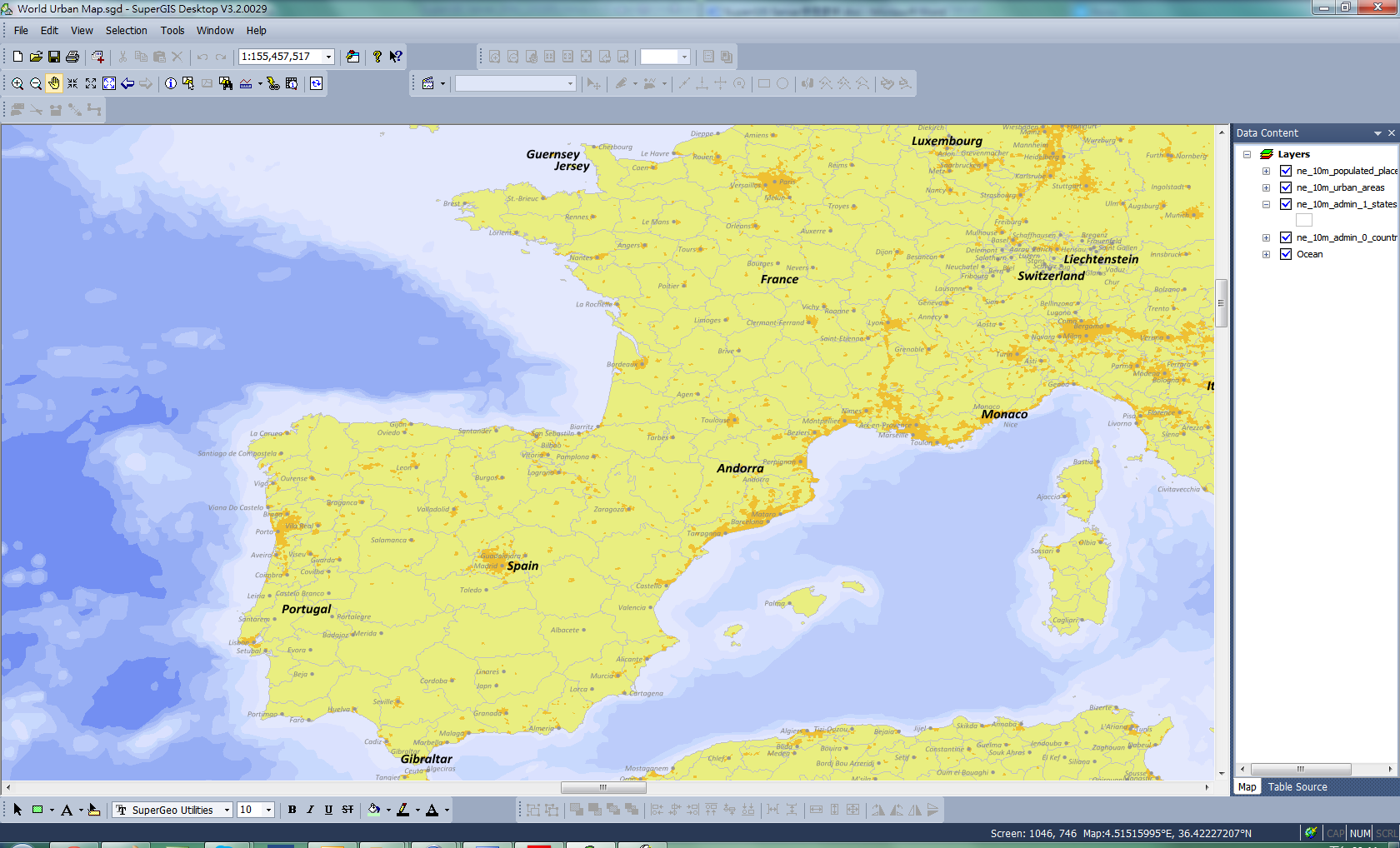 Publishing gis service creating the map for web map service in open file window select the files to generate the map project and click ok to add the files to supergis desktop gumiabroncs Gallery