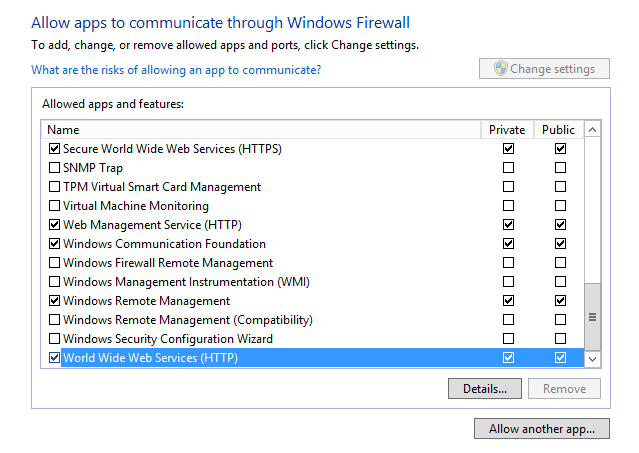 IIS Installation and Firewall Setting > Server Operation
