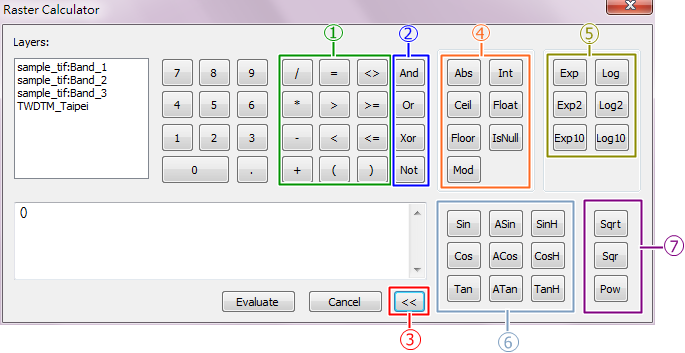 Raster Calculator Analyst > Calculation with Raster