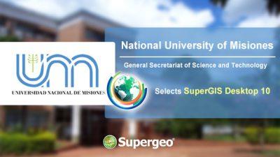 阿根廷國立米西奧內斯大學科學暨技術處選用SuperGIS Desktop 10推廣地理空間科學之應用