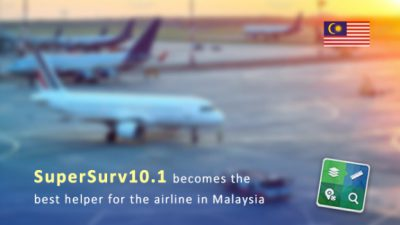 SuperSurv10.1 becomes the best helper for the airline in Malaysia