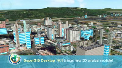 Getting whole new GIS experience by using SuperGIS Desktop 10.1!